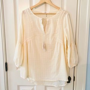 NEW, Entro Flowing Sheer Blouse